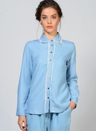 Goldie Uzun Kollu Gömlek Mavi